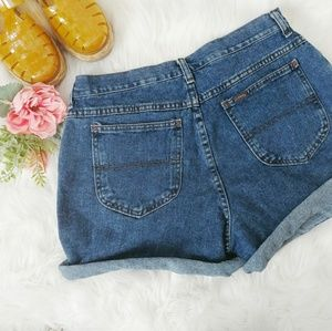 Vintage Riders High Rise Denim Jean Shorts Size 14
